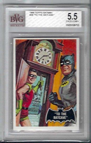 BVG GRADED 1966 BATMAN CARD # 39, 5.5 FN -