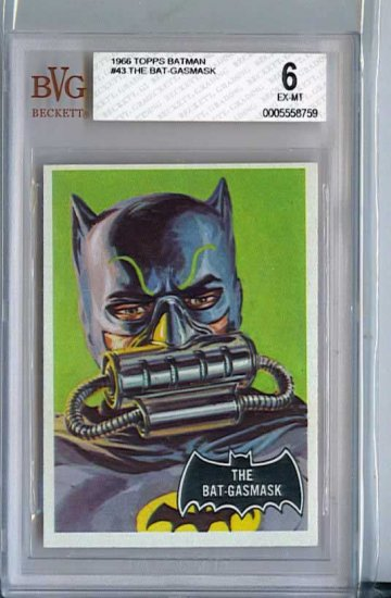 BVG GRADED 1966 BATMAN CARD # 43, 6.0 FN