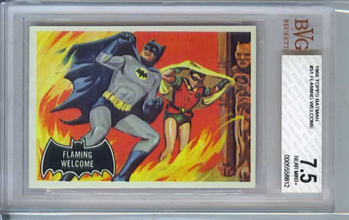 BVG GRADED 1966 BATMAN CARD # 51, 7.5 VF -