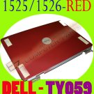 NEW Dell Inspiron 1525 1526 RED LCD Back Cover w/Hinges