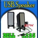 Dell Multimedia Two Piece A225 Black USB PC Speakers  `