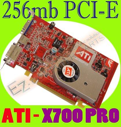 ATI RADEON X700 PRO 256MB PCI-E DVI VGA VIDEO CARD  #