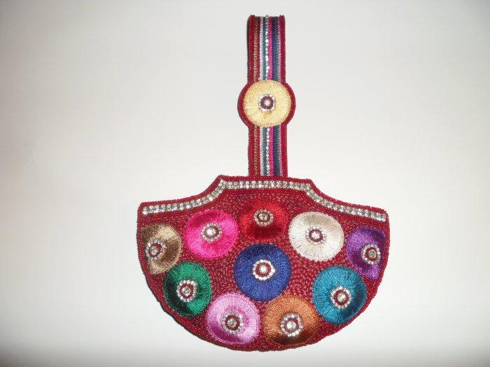 Multi-colored fashionable clutch