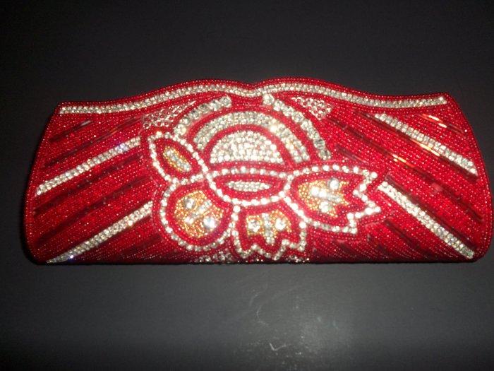 Red beaded fashion purse/clutch