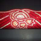 Red beaded fashion purse/clutch
