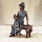 African American Mother and Child Figurine -32210