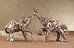 Patchwork Elephant Couple-Safari -31776