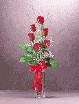 Satin Roses Bouquet in Vase -33190