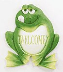 Frog Welcome Plaque -33933