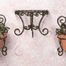 Wrought Iron Cafe Wall Planters -32406