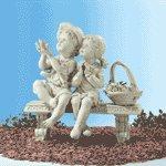 Garden Boy & Girl on Bench -32225