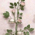 Metal Rose Wall Sconces -33596