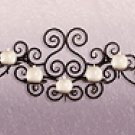 Wrought Iron Swirl Wall 5-Candle Holder -32403