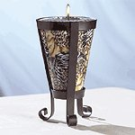 Safari Pattern Cone-Shaped Candle and Holder -32303