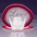 Glass Love Swans Candleholder -34122