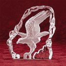 Clear Glass Carved Eagle -28313