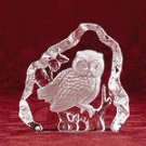 Clear Glass Carved Owl -28315