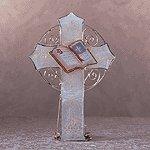 Capiz Shell Cross Candle Holder -34523