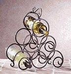 Wrought Iron Swirl Wine Rack -32405
