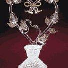 Spun Glass Love Swans Cake Top -31456
