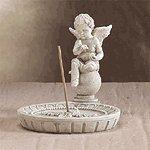 Cherub Round Incense Holder -33567