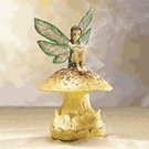 Fairy on Mushroom Incense Burner -33075