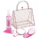 Sugar Plum Bath Set in Wire Purse -33035