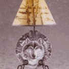 Snow Wolf Plate and Lamp Set -33770