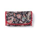 Black Red Paisley Cosmetic Bag -36765