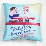 Sublimated Art Pillow -Fat Boy Drive-In -36786