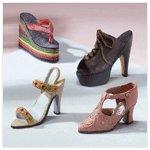 Alabastrite Set Of 4 Lady's Shoes -29672