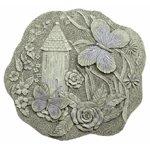 Alabastrite Butterfly Garden Plaque -30155