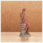 African Lady On Stone -28451