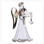 Glass Angel With April Birthstone -30818