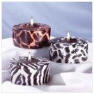 3-Piece Safari Cylinder Candle -31126