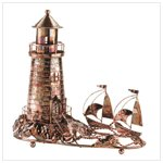 Musical Metal Sculpture Lighthouse -31420