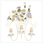 Metal Flower Wall Sconce Candle Holder -32257