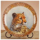 Porcelain Patchwork Cheetah Plate -32415