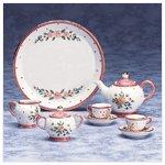 10-Piece Ceramic Pink Floral Mini Tea Set -33039