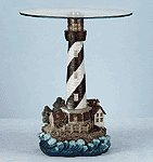 Lighthouse Table with Glass Top -34737