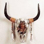 Bust Head On Horns -32020