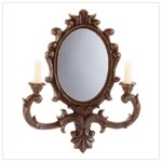 Antique Look Wall Mirror and Sconce -33530