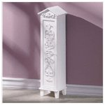 Distressed White Wood CD Holder -33670