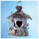 Painted Metal Spring Hut Birdhouse -33813