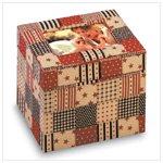 American Country Fabric Photo Box -34874