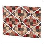 American Country Fabric Memo Board -34873