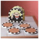 Waiter Design Coaster Set -34623