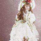 """18"""" Porcelain Victorian Doll - Gwyneth -29633"""