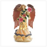 Ethereal Lighted Angel Bearing Roses -36324