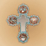 Life of Jesus Mirror Cross -35297